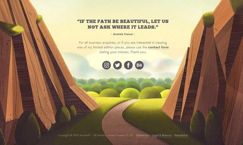 12个插画背景的网页设计欣赏