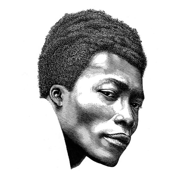 Leib Chigrin黑白刮版肖像画作品
