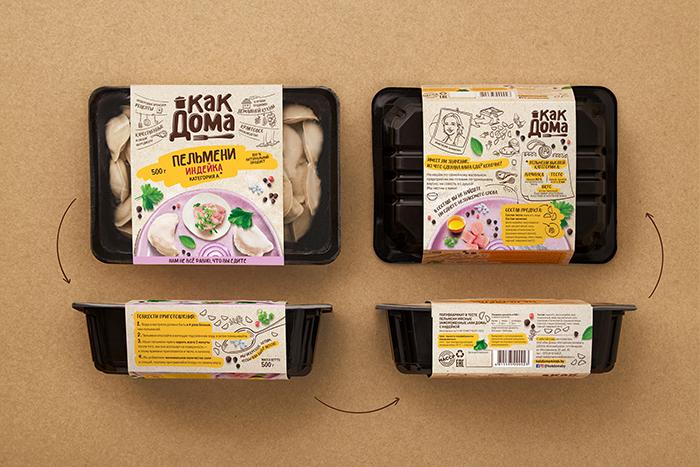 Kak Doma速冻食品包装设计