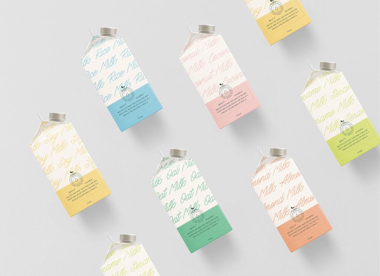 Planty牛奶包装设计