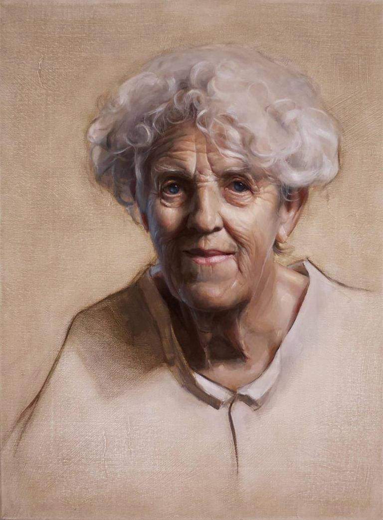 澳大利亚艺术家Michael Simms肖像画作品