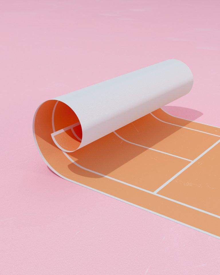 Molistudio网球运动3D插画设计