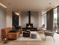 温馨时尚的极简主义风格住宅装修设计
