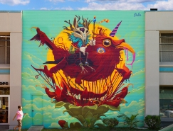 Dulk动物主题街头壁画作品