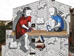 意大利艺术家Millo创意街头墙壁涂鸦作品
