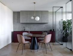 玻璃隔断打造的开放式公寓空间设计
