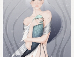 Helen Xu清新少女插画作品