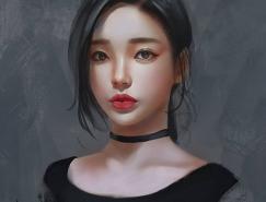 trungbui42女孩肖像插画作品
