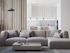 4个柔和的浅灰色调家居装修设计