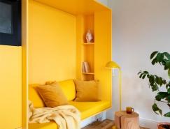 明亮的黄色打造出轻快、充满活力的家居空间