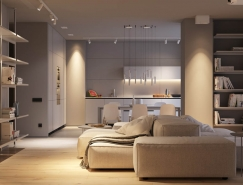 极简而柔和的灰色系家居装修设计