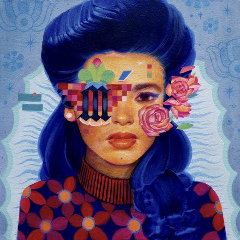 Sam Rodriguez字体人物肖像插画