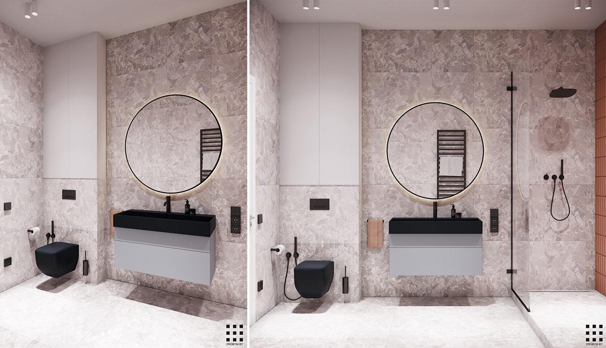 圆形元素的运用:94平米精致公寓装修设计