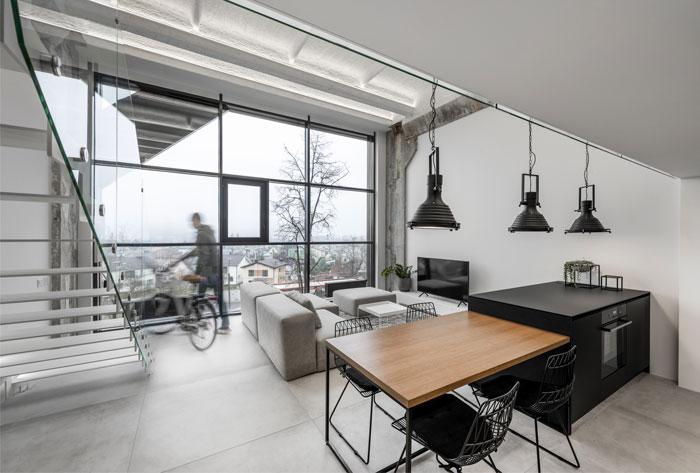 工业极简主义风格的Loft住宅设计