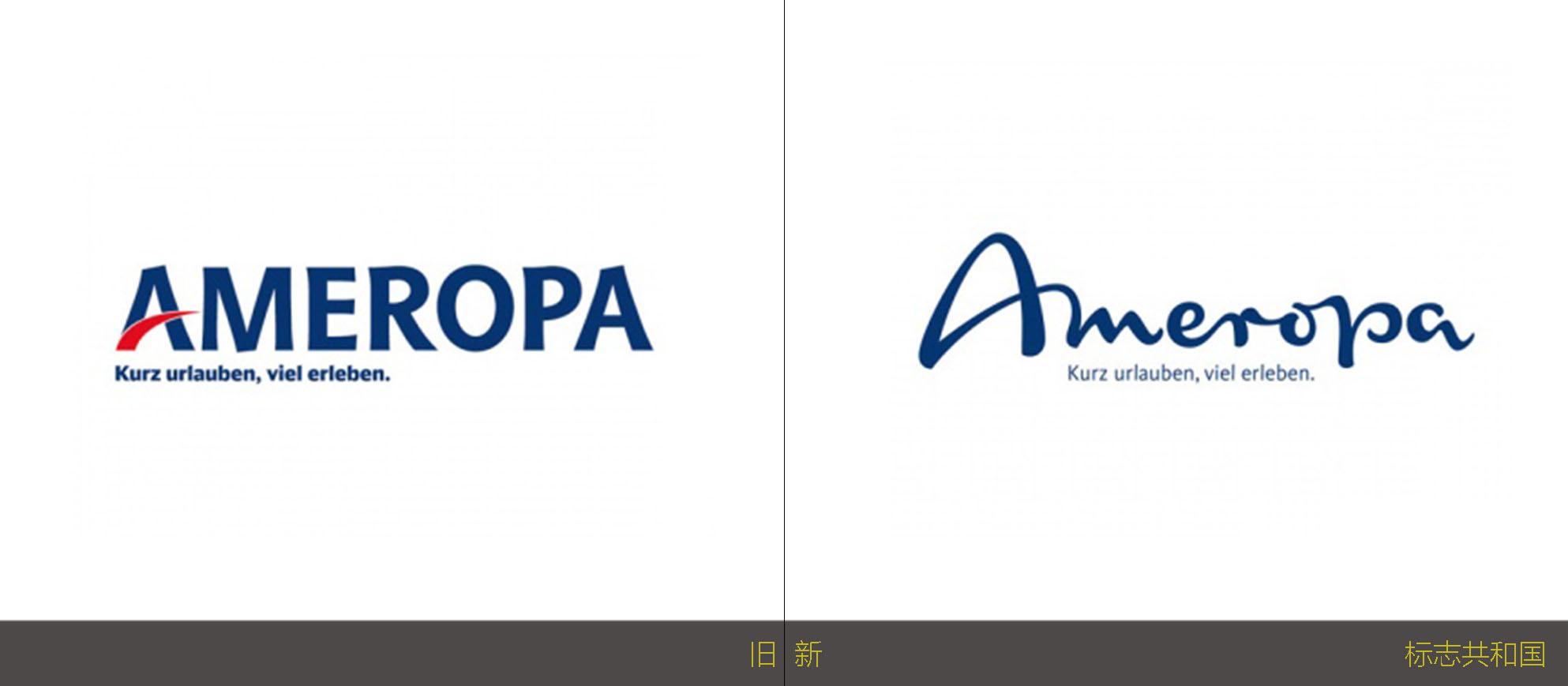 旅游运营商Ameropa全新的品牌标志