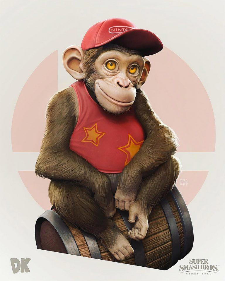 Super Smash Bros.游戏角色插画设计