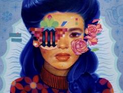 Sam Rodriguez字體人物肖像插畫