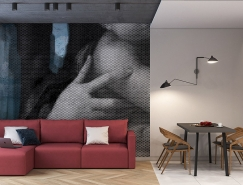 灰色中的一抹红:3个高颜值简约风格家居装修设