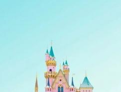 PS将建筑图片调成甜美糖果色彩