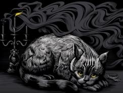 Alexey Sokolov漂亮的刮板画作品