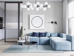 圓形元素的運用:94平米精致公寓裝修設計