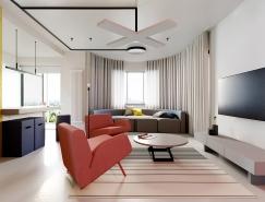 带有一丝蒙德里安风情的现代简约住宅,体育投注