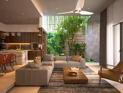 4個擁有內部花園綠色空間的豪宅