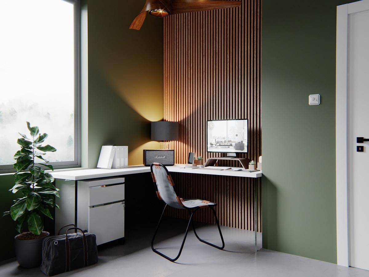 51个家庭办公室工作区空间设计