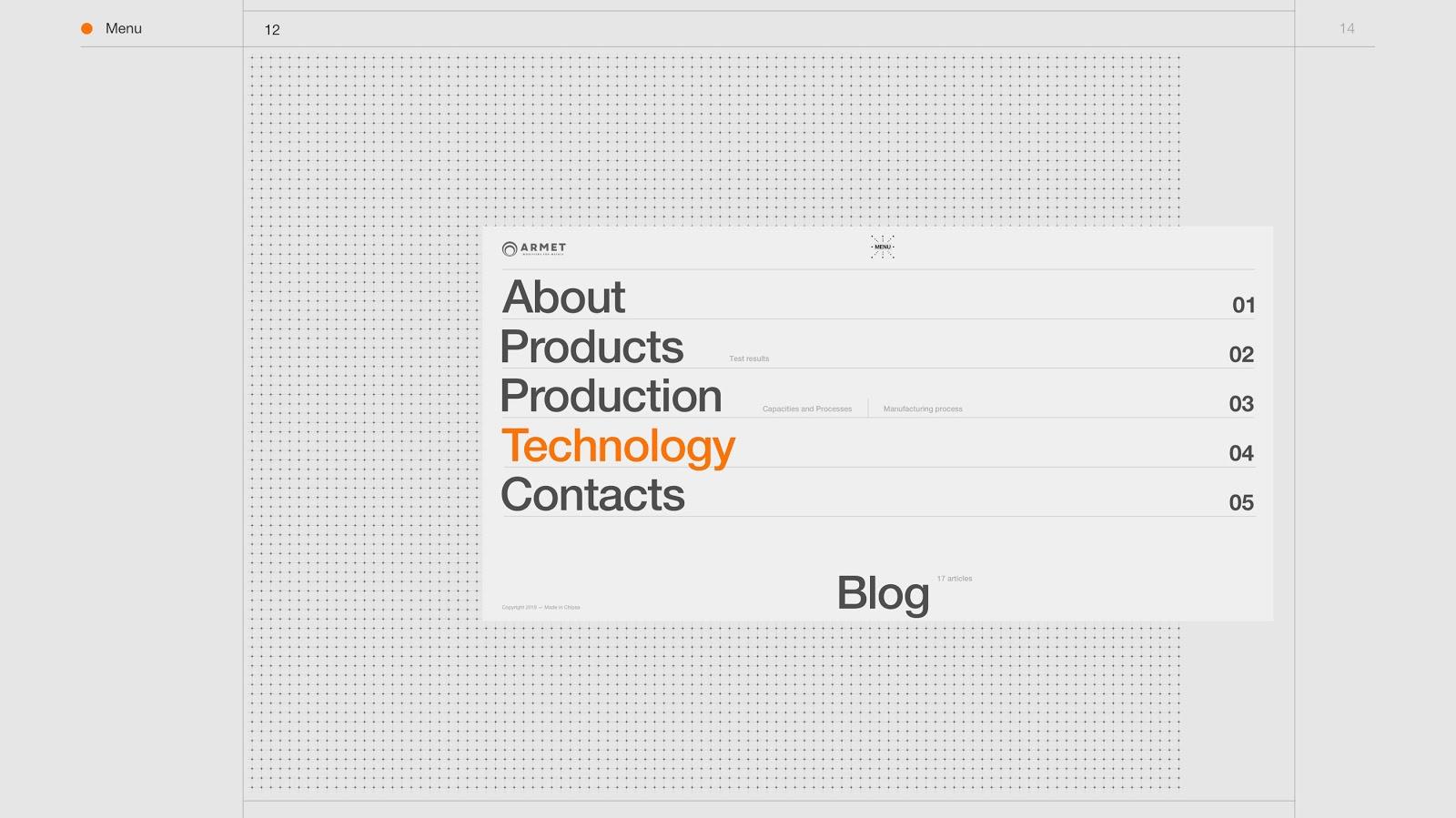 Armet网页设计欣赏