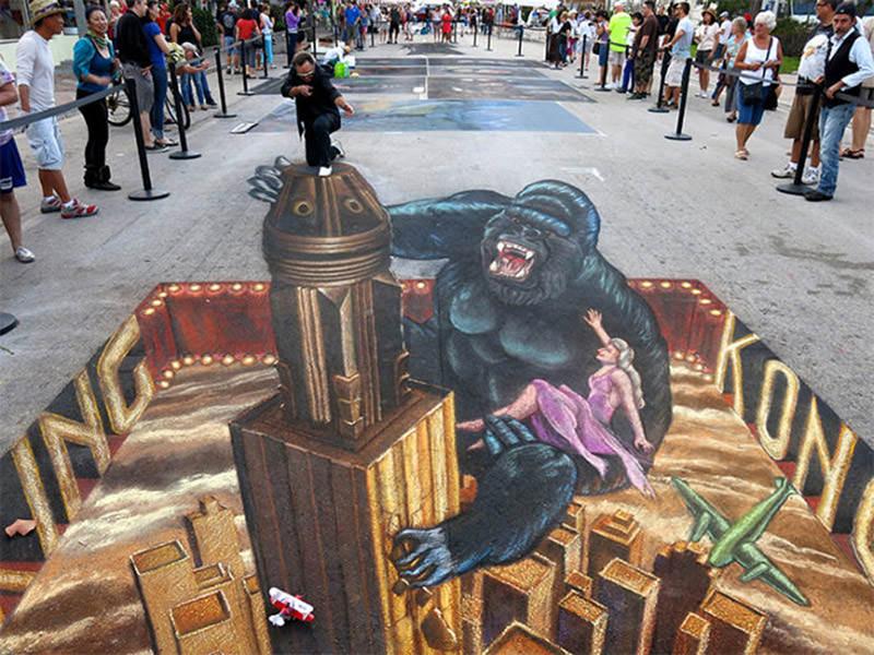 50个超酷的3D街头艺术和壁画