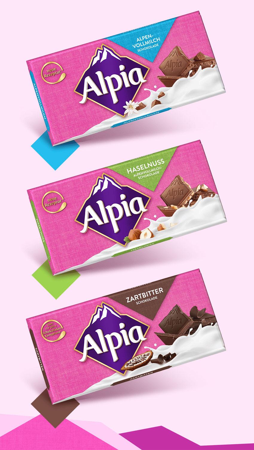 德国巧克力品牌 Alpia(欧派)启用新LOGO