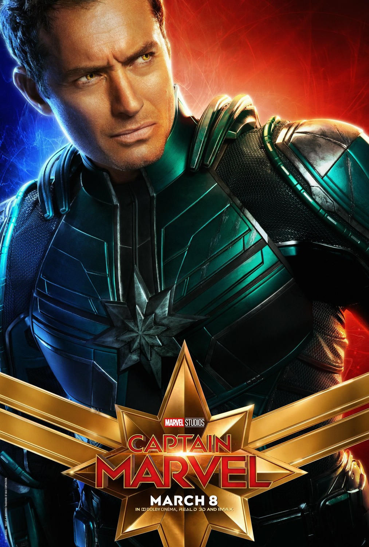 资讯_电影海报欣赏:惊奇队长(Captain Marvel) - 设计之家