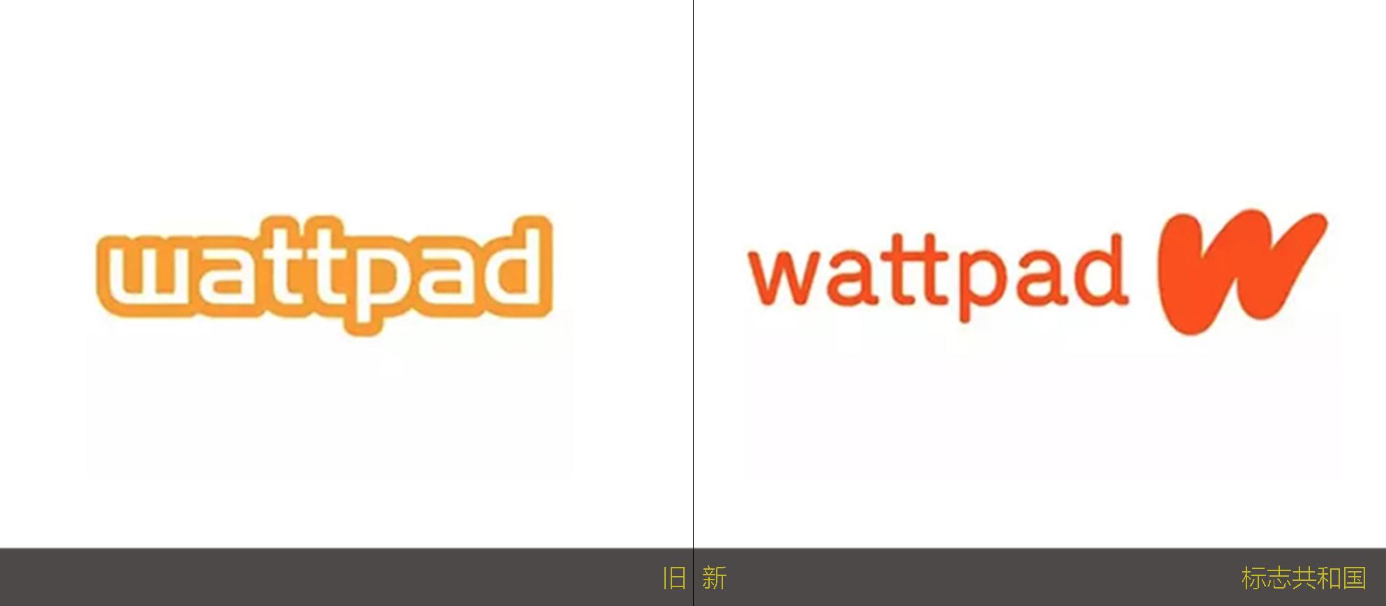 加拿大电子阅读平台Wattpad启用新logo