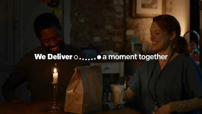 英國麥當勞與Uber外賣服務廣告 遞送時光