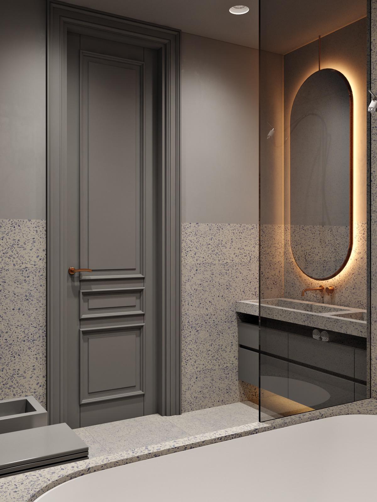 高雅灰色的新古典主义风格家居装饰