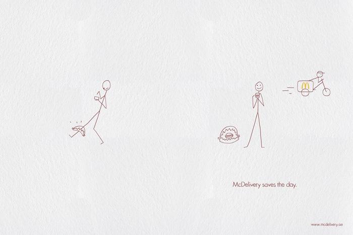 三组麦乐送平面创意广告欣赏