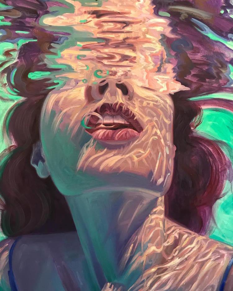美到让人屏息的水下绘画