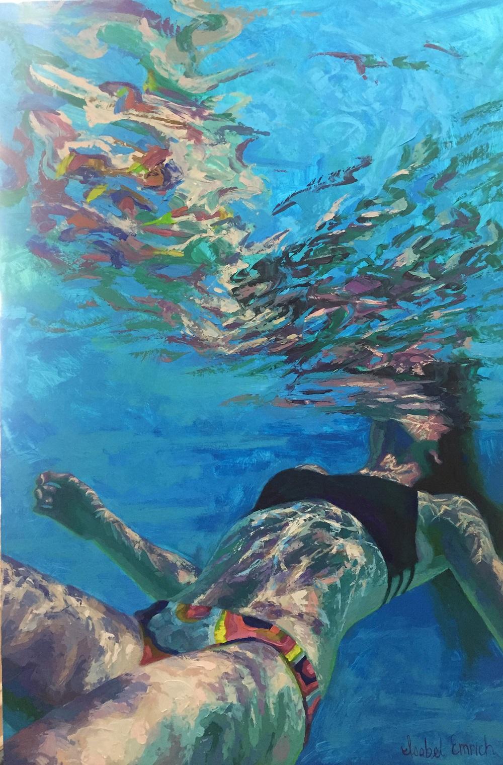 underwater paintings artwork - 736×1118