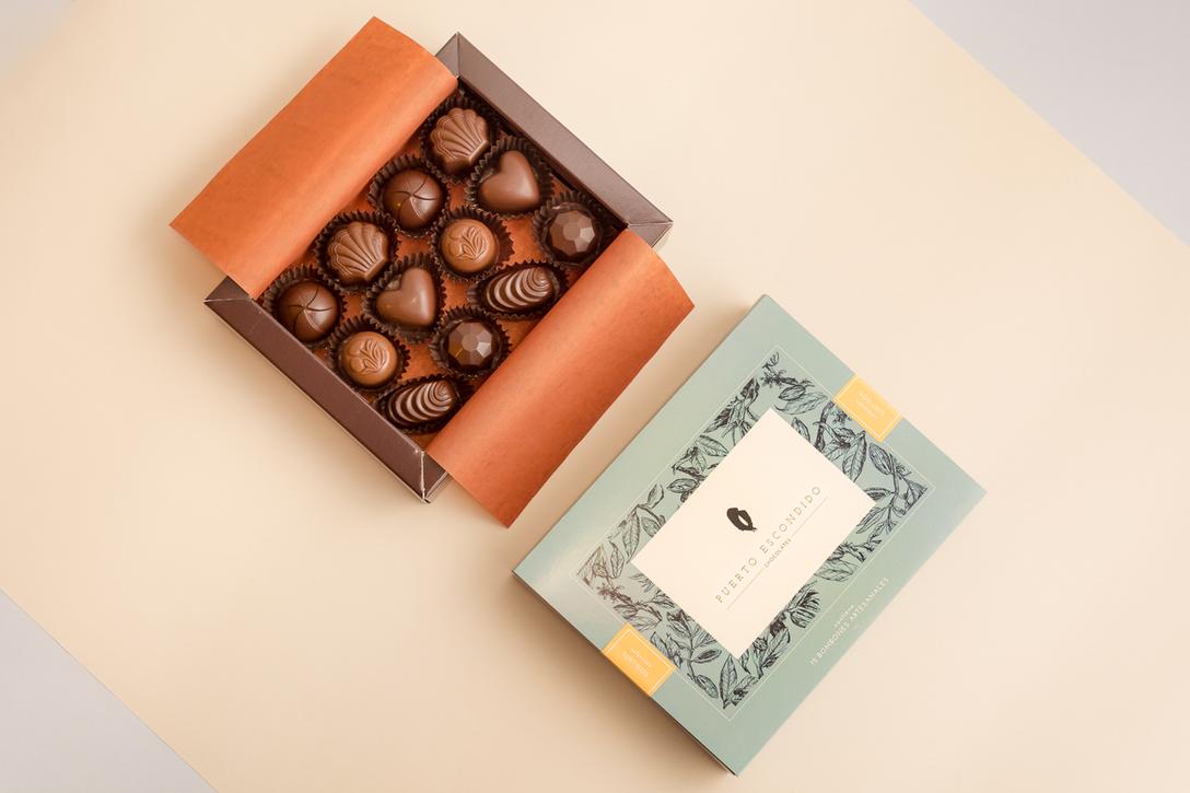 Puerto Escondido巧克力包装设计