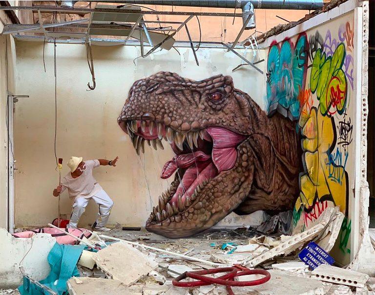 Scaf逼真的3D街头墙绘艺术