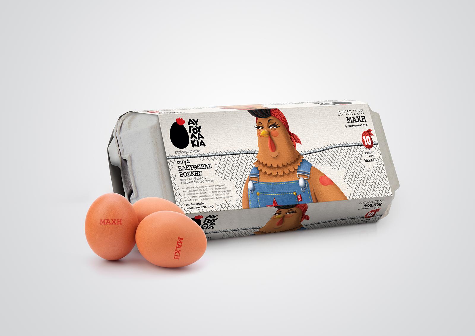 Avgoulakia可爱的鸡蛋包装设计