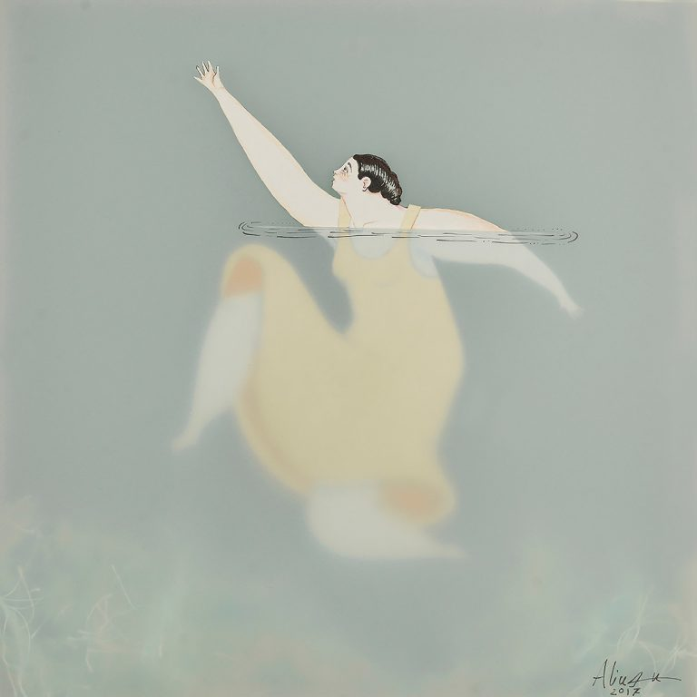 Sonia Alins绘画作品:水中的女人