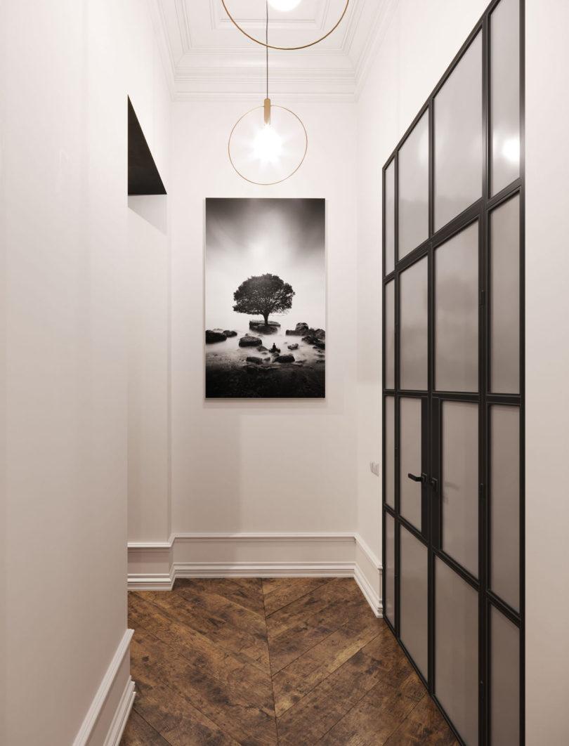 经典设计元素与现代家具结合:法国鲁昂黑白公寓设计