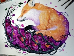 Jonna Hyttinen惊艳的动物水彩画