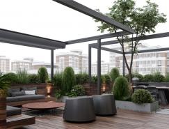 擁有樓頂花園的現代豪宅設計