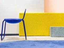 灵感源自回形针的系列的椅子设计