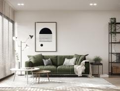 绿植点缀的北欧风格家居装饰设计