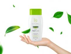 Naturel Fasthair头发护理产品包装设计