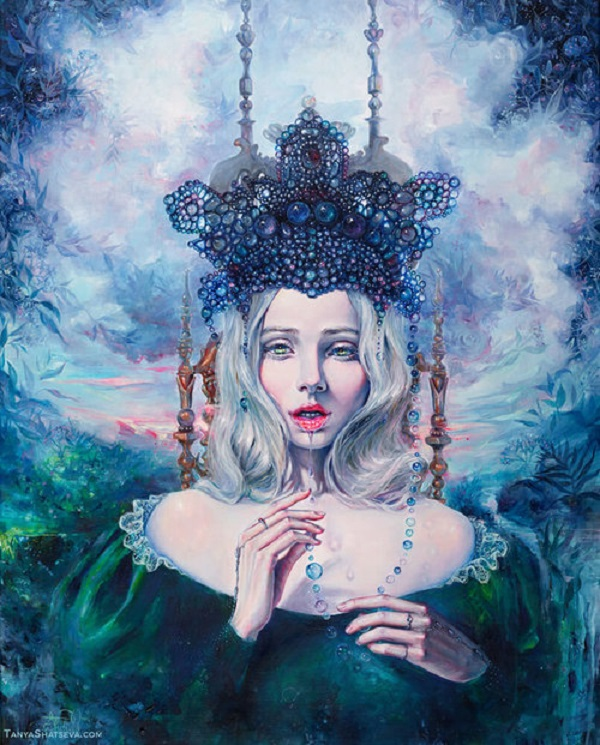 Tanya Shatseva超现实主义人物肖像插画
