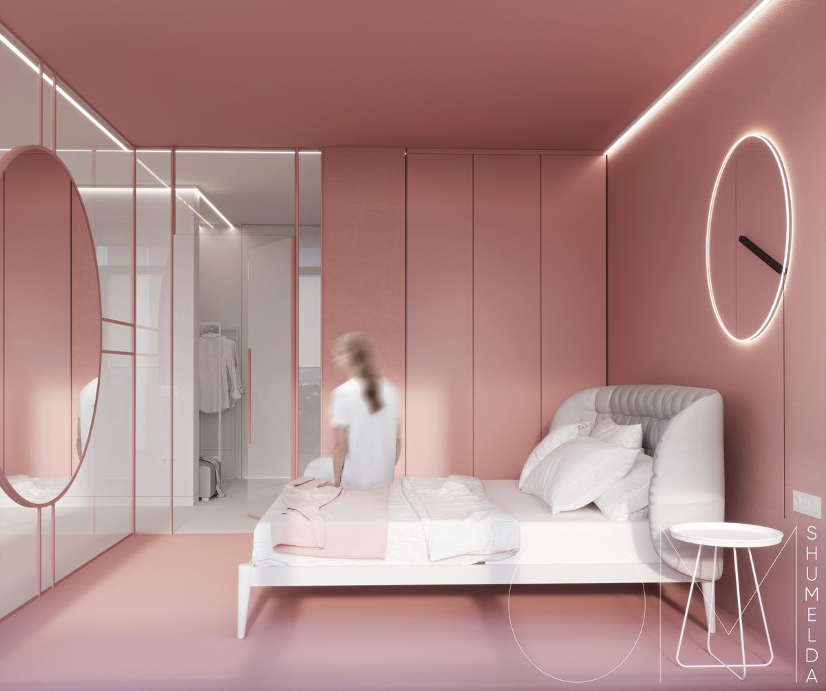 51个粉色卧室设计欣赏